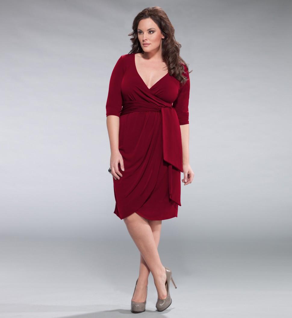 модели платьев для полных женщин.