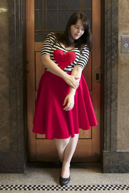 Plus Size Circle Skirt Outfit