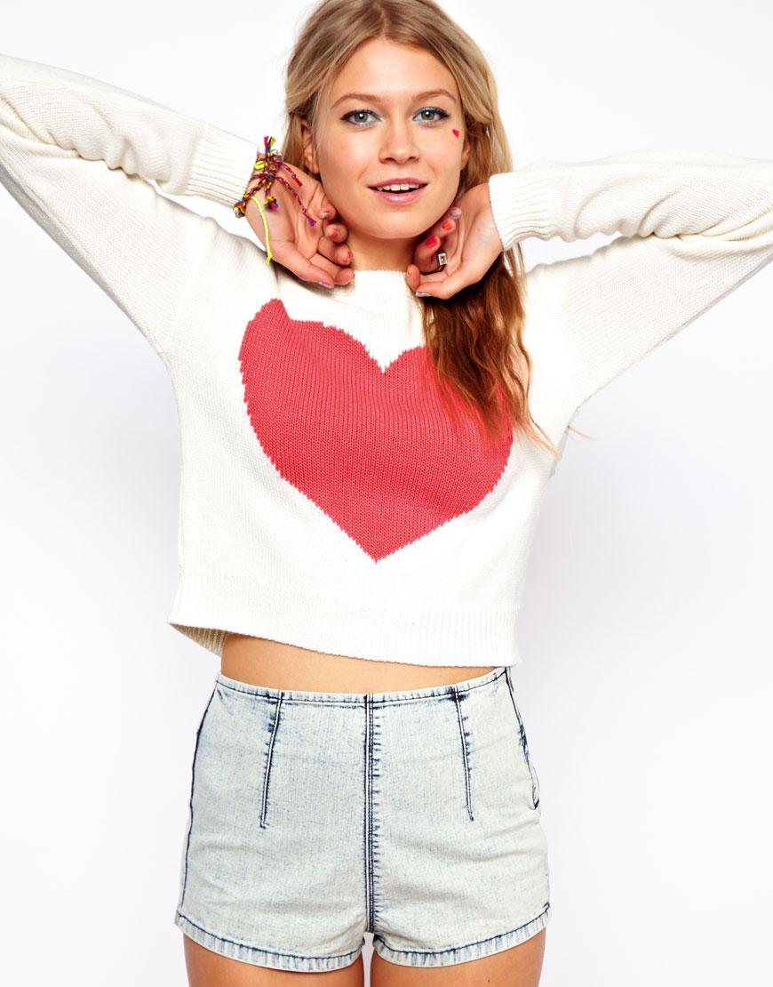 Пуловер С Сердечками Доставка
