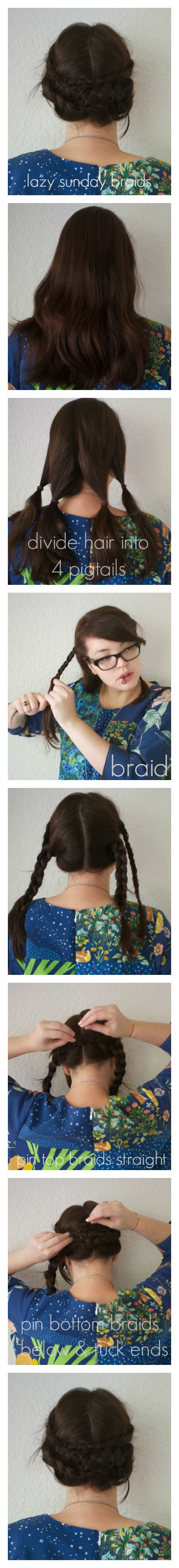 sunday braids tutorial