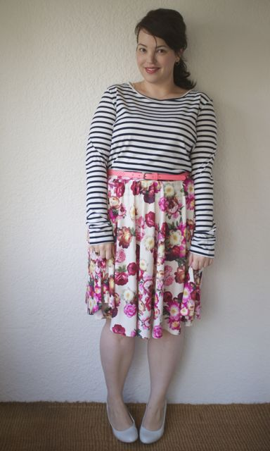 Asos Floral Skirt and striped top