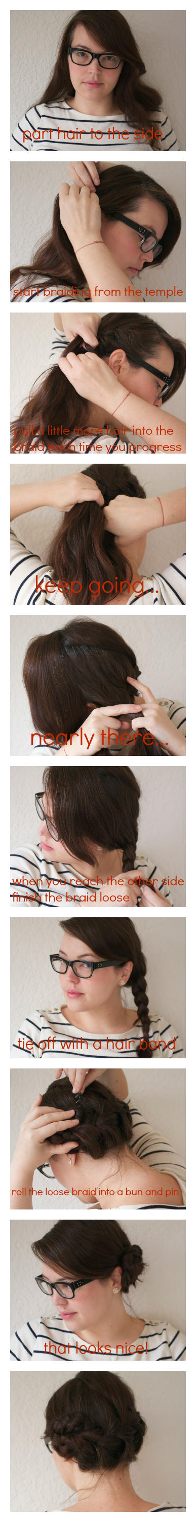 braided side bun tutorial