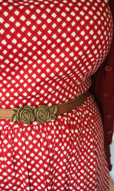 frocks and frou frou - flower belt