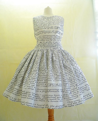 Custom printed book dress