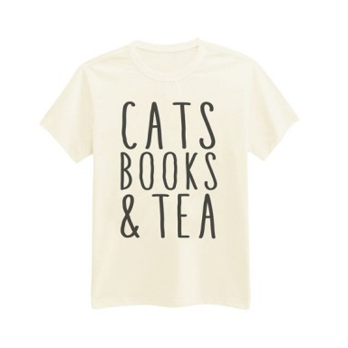 cats books tea