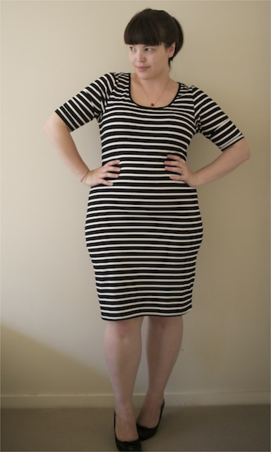 The plus size striped dress from 17 Sundays
