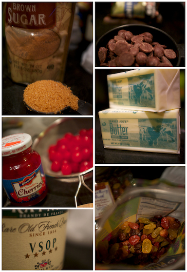 Christmas Cake Ingredients 1