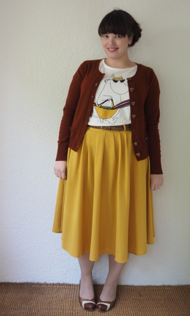 Frocks and Frou Frou - Moomintroll Top & Mustard Skirt